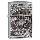 Zippo Harley-Davidson Motor Flag Emblem Street Chrome Pocket Lighter