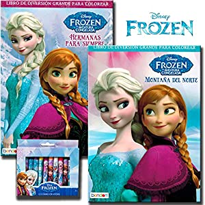 Amazon Disney Frozen Coloring Book Set With Crayons