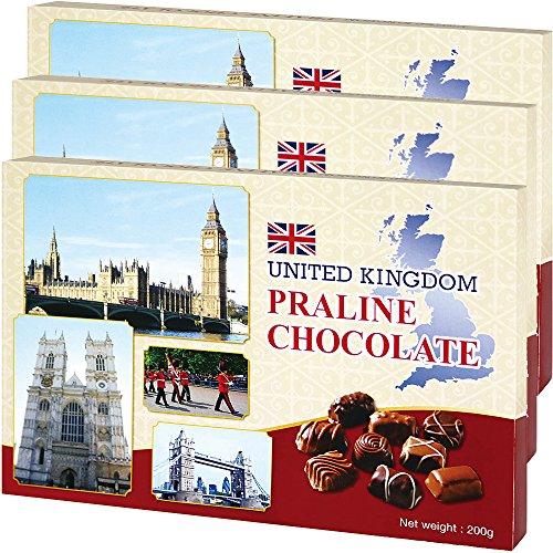 イギリスお土産 プラリネチョコレート3箱