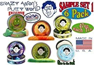 Crazy Aaron's Thinking Putty Mini Tin Gift Set Bundle (Sample Set 1) with Super Scarab,…