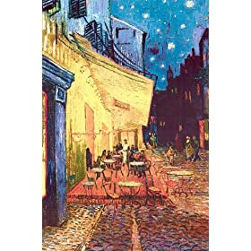 The Café Terrace on the Place du Forum, Arles, at Night, c.1888 Art Styles Poster Print by Vincent van Gogh, 24x36
