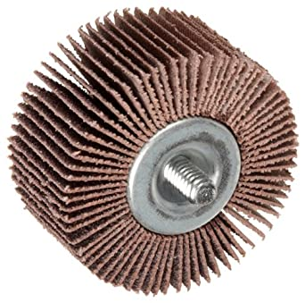 Norton Metalite R265 Abrasive Flap Wheel, Threaded Shank, Aluminum Oxide