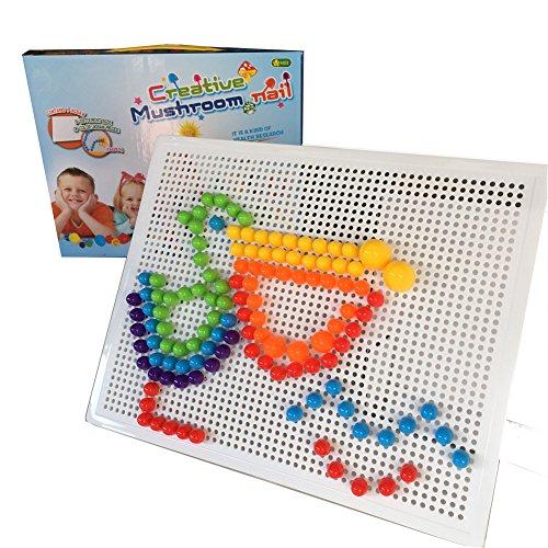 Fajiabao Plastica Giocattolo di Puzzle con Forma di Fungo Giocattoli di Costruzione Gioco per Bambini da 3 Anni in su, 184 Pezzi