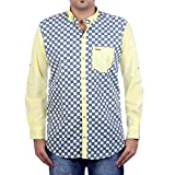 Aaduki Men's Casual Yellow Shirt-XL