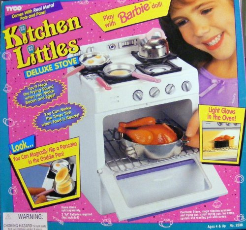 Barbie- Orginal Tyco Kitchen Littles Deluxe Stove Playset