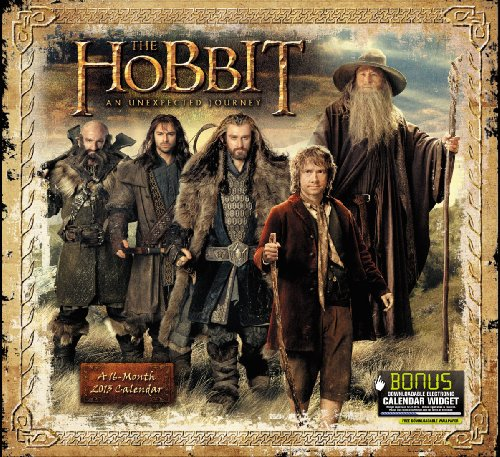 2013 The Hobbit: An Unexpected Journey Wall Calendar