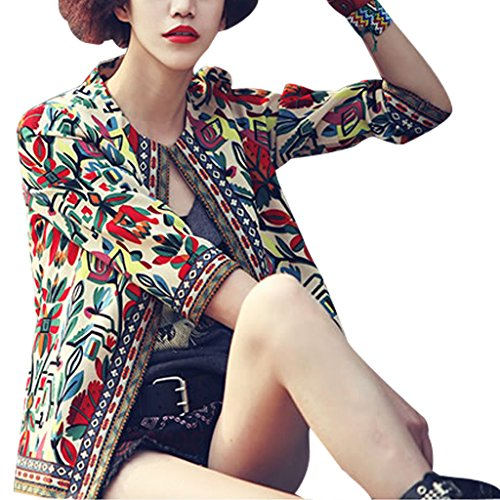 buenos-ninos-womens-3-4-sleeve-ethnic-embroidery-cardigan-retro-printed-flyaway-jacket-coat-beige-m