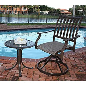 Panama Jack Outdoor Island Breeze Swivel Rocking Dining Chair, Set of 2