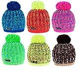 Wurm Winter Niunio Style Beanie Mütze mit Ponpon Damen Herren