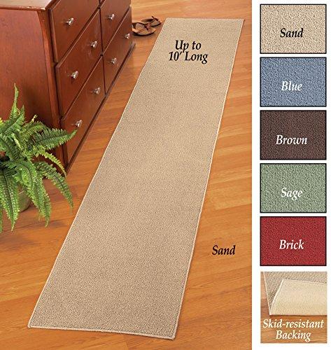 Collections Etc Extra Long Non Slip Floor Runner Sand 20