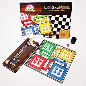 Zeztee Chess + Ludo Wooden