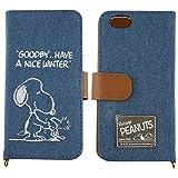 ピーナッツiPhone6s/6対応フリップカバー/デニム スヌーピー&ウッドストック sng-153b