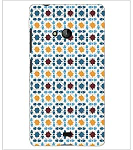 PrintDhaba Pattern D-5264 Back Case Cover for MICROSOFT LUMIA 540 (Multi-Coloured)