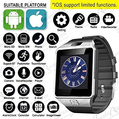 Evana (get free TTL/Trusttel Branded mobile pouch) Bluetooth Smart Watch Phone With Camera and Sim Card Support...