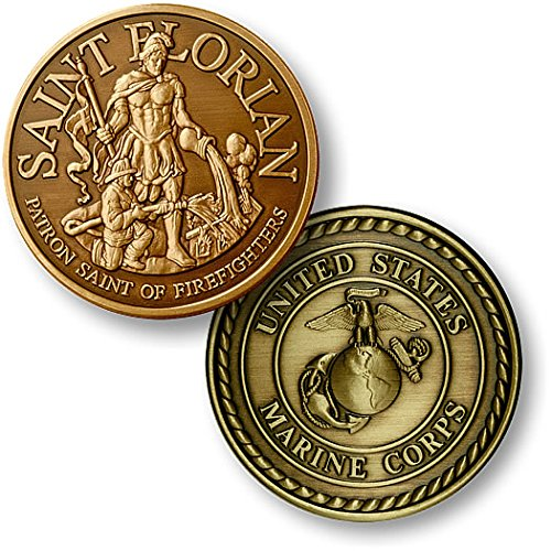 Saint Florian - USMC Bronze Antique - 1