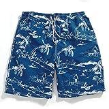 GAILANG(ガイラング) 水着 メンズ 海水パンツ サーフパンツ 短パン g5-ms01 S(ウエスト72cm~82cm) パームツリー・ブルー