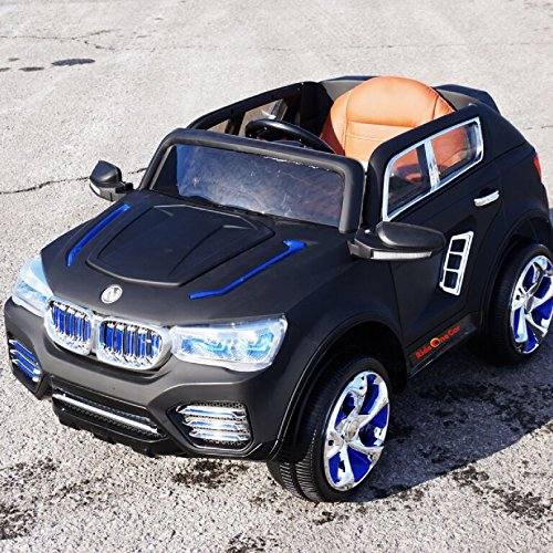 BMW.X5 STYLE RIDE ON TOY ELECTRIC CAR REMOTE CONTROL 12 VOLTS BATTERY DULL BLACK (Bmw X5 For Kids compare prices)