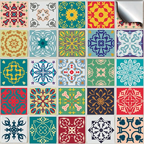 6-pack-of-24-various-traditional-wall-tile-stickers-for-150mm-6-inch-square-tiles-tp-50-simply-peel-