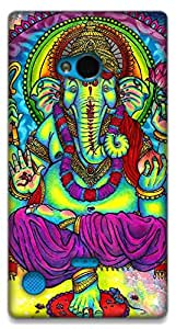The Racoon Lean Neon Ganesh hard plastic printed back case / cover for Nokia Lumia 720