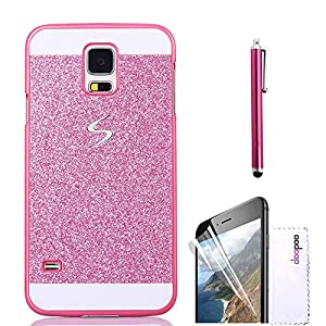 Samsung Galaxy Note 4 Case,Doopoo TM Luxury Bling Diamond with Crystal Rhinestone Vibrant Trendy Color Slider Style Hard pc Case for Samsung Galaxy Note 4 (Samsung Galaxy Note 4, Pink)