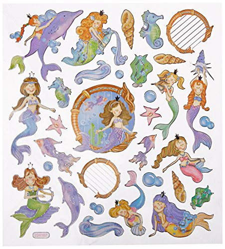 Multi-Colored Stickers-Mystical Mermaids - 1