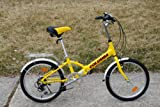 "Columba 20"" Alloy Folding Bike w. Shimano 7 Speed Yellow (R20A_YEL)"