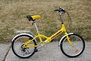 "Columba 20"" Alloy Folding Bike w. Shimano 7 Speed Yellow (R20A_YEL)"