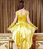(タリンダ)Talinda美女と野獣ベルハロウィンコスチュームコスプレ衣装プリンセス白雪姫コスプレ大人用女性用レディースワンピースコスプレ衣装パーティードレスイエローM