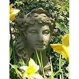 Designer Stone Lady's Head Planter - Refined