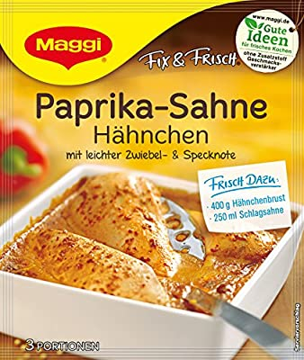 Maggi Fix Paprika Sahne Hähnchen, 14er Pack (14 x 33 g) von Maggi bei Gewürze Shop