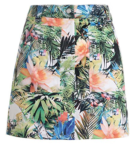 SVG Elegant Floral Printed Summer Golf Skirt Tech Golf