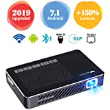WOWOTO A5 Pro New Upgraded 50% Brighter Portable DLP Video Projector 150