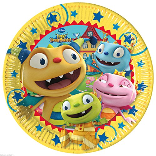 Procos S.A 23cm Henry Hugglemonster Dinner Plates (Pack of 8) - 1