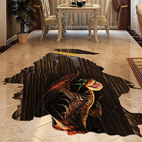 EMIRACLEZE Christmas Gift Holiday Shopping Christmas Gift Holiday Shopping Hot Sale Christmas Gift 3d Dinosaur Removable Mural Wall Stickers Wall Decal for Wall and Ground Decoration (Cool Wall Ideas compare prices)