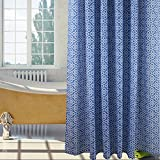 S-ZONE Luxury Designer,Bathroom Shower Curtain,with 12 Hooks,Polyester Fabric ,72x78 Inch,Blue Color