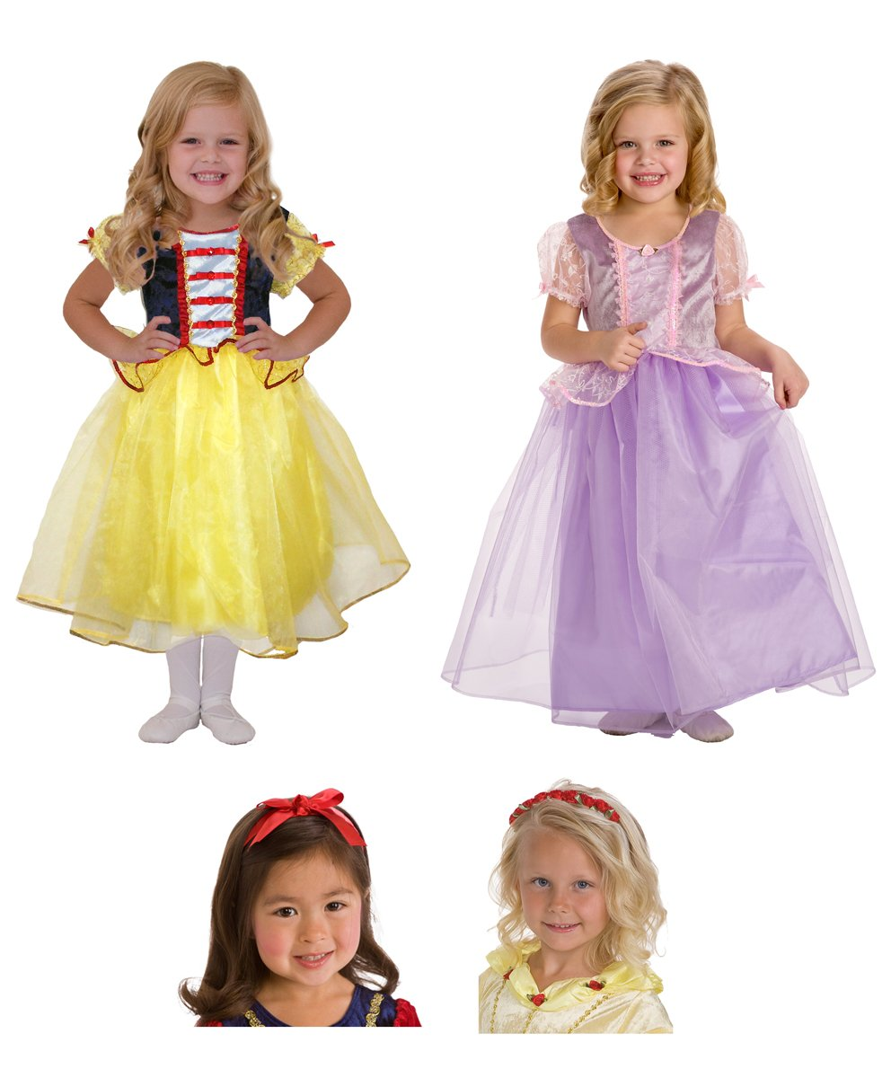 Little Adventures Snow White, Rapunzel Princess Dress, Headband, Bow Set sz 2-4 at Sears.com
