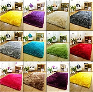 Thick Silky Soft Hand Tufted Shaggy Rug High Quality 6cm Pile (60x120cm) from RUGS SUPERSTORE