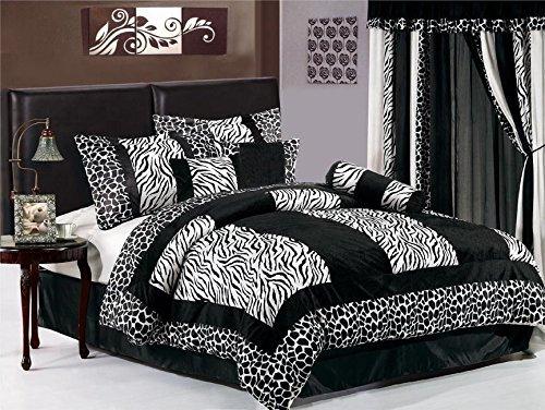 black u0026 white zebra print bedding
