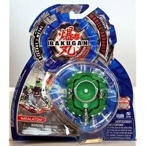 Bakugan - Mechtanium Surge - Mobile Assault - GREEN IMPALATON - includes 1 Bakugan Mobile Assault, 1 Ability Card and 1 Metal Gate Card - MOC