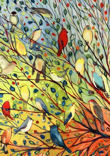 Toland Home Garden Tree Birds 12 5 X 18 Inch Decorative