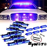 Blue 54x LED Volunteer Vehicle Grill Deck Strobe Warning Lights - 1 set