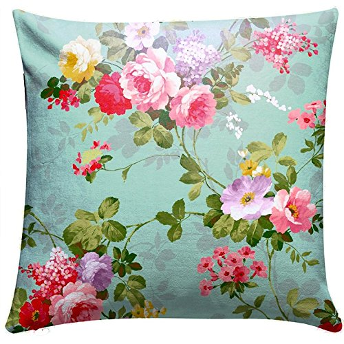 Royalina Bright Vibrant Floral Cushion Cover Set-16 inch X 16 inch