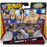 WWE Rumblers Jack Swagger And John Cena Figure 2-Packs