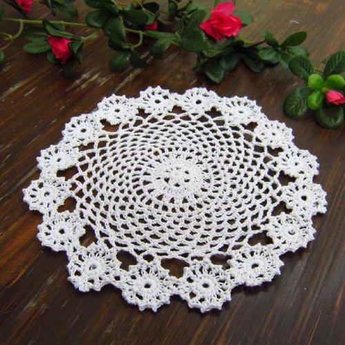 Kilofly Crochet Cotton Lace Table Placemats Doilies Pack