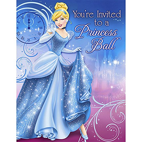 'Sparkle' Cinderella Invitations w/ Env. (8ct) - 1