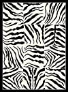 Creative Home Safari Area Rug 4255-90 Black Checkered Zebra Animal Print 7' 10