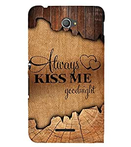 Always Kiss me Good Night 3D Hard Polycarbonate Designer Back Case Cover for Sony Xperia E4 Dual :: Sony Xperia E4