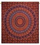 Inde coton brun fonc� Bohemian Tapiss...