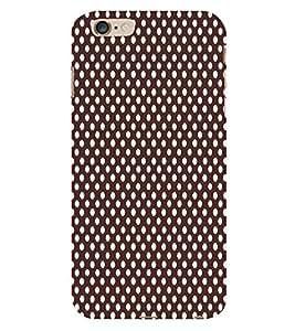 Maroon Dots 3D Hard Polycarbonate Designer Back Case Cover for Apple iPhone 6 Plus