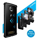 CaseWe - Motorola Moto Z2 Force Protective Bumper Case Cover/Compatible With Moto Mods - All Matte Black (Color: Black, Tamaño: 5.5 inch)